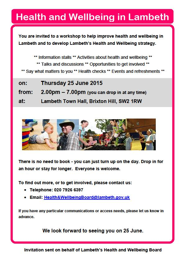 health and wellbeing workshop