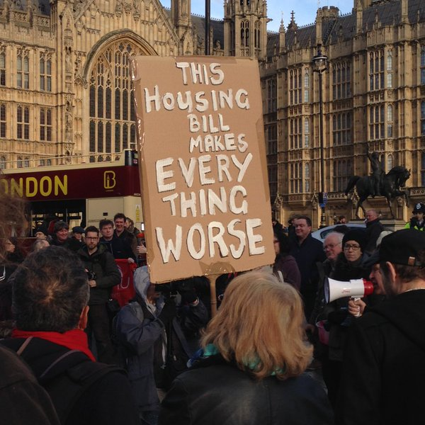 Housing Bill Protest